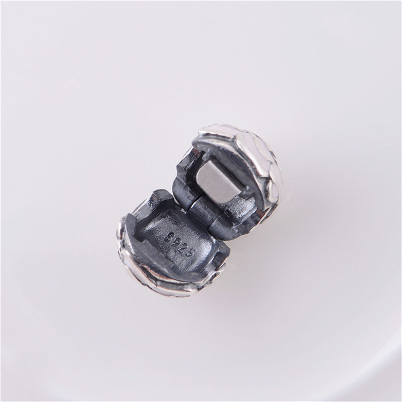 Enamel Rose Silver Clip Charm Beads European Original 100% 925 Sterling Silver Beads Fits Pandora Charm Bracelets & Bangles KT081-N (3)