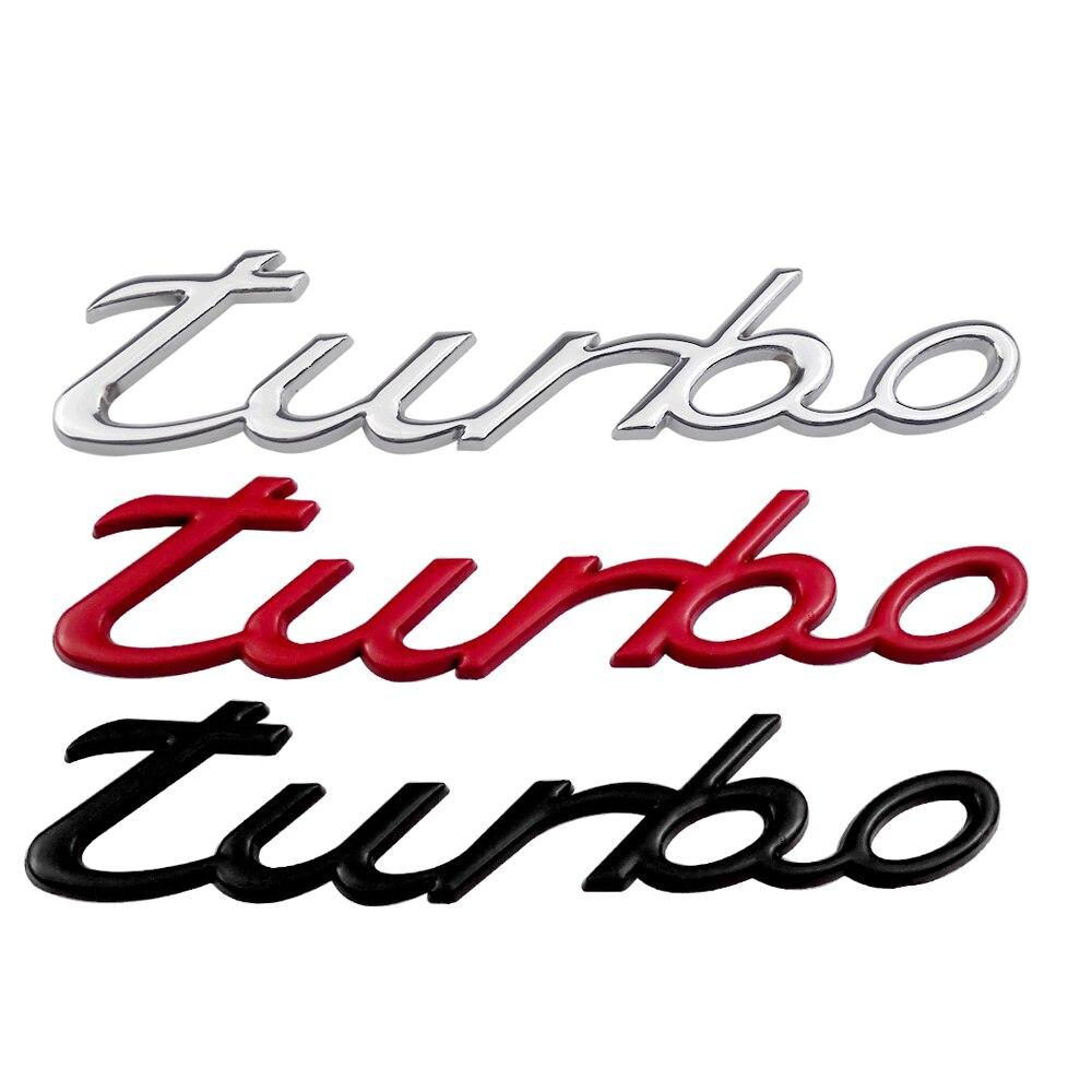Red Sticker Badge 718 targa Sport 911 suv gts Chrome turbo Metal Grille Emblem