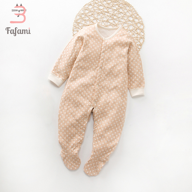 aa4aa734e Organic Cotton Brand Baby clothes bebe Rompers Long Sleeves Infant jumpsuit  Newborn Baby boy girl Baby Clothing Pajamas romper