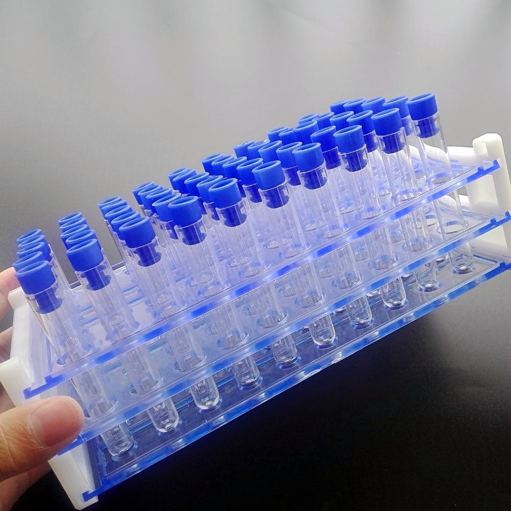 50 Tube - 12x75mm (5ML) doorzichtige plastic reageerbuisset met dop - School en educatieve benodigdheden - Foto 2
