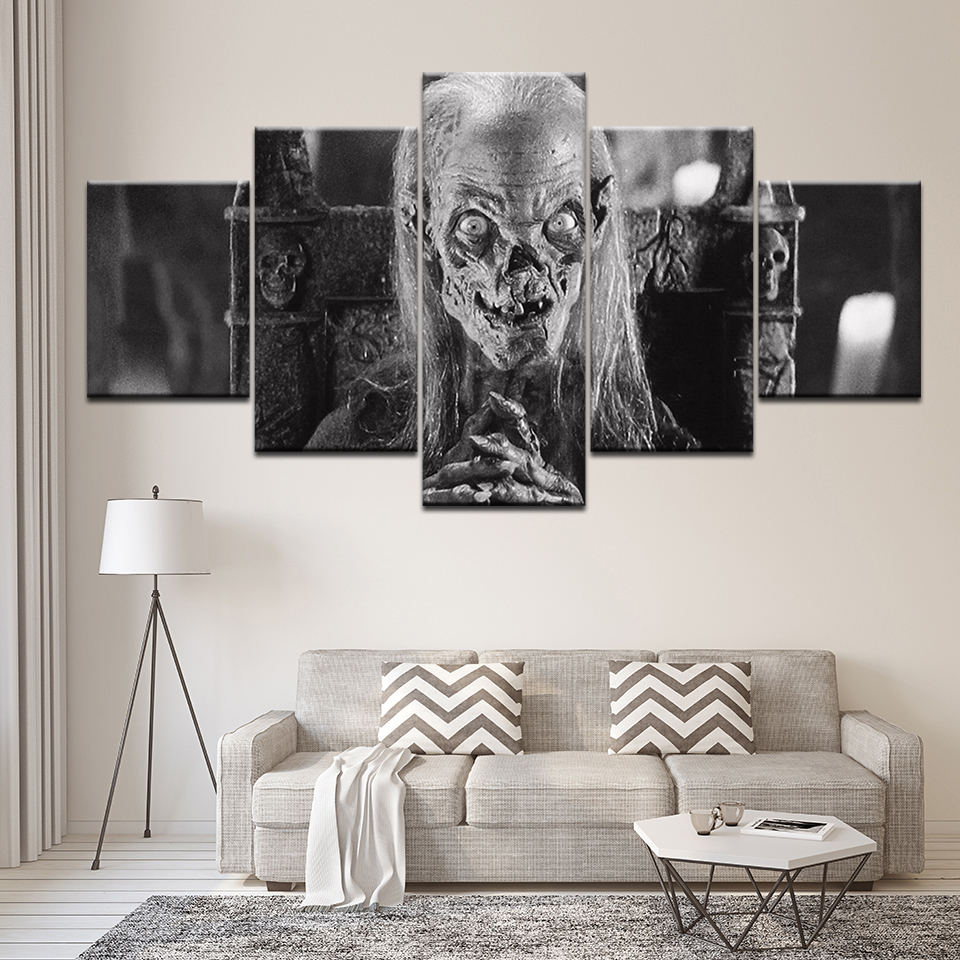 Canvas Painting Tv Series Tales From The Crypt 5 Pieces Wall Art