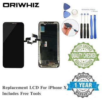 2 sztuk klasy AAA dla iPhone X LCD New Arrival wymiana ekranu Digitizer zgromadzenie ekran dotykowy czarny kolor 100% przeszedł Test