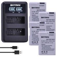 4X1200 MaH EN-EL14 EN-EL14A ENEL14 EL14 Batterij + LED Dual USB lader voor Nikon DF D5300 D5200 D5100 D3300 D3200 D3100 P7100 P7