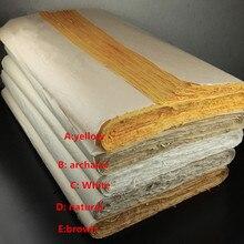 Chinese schilderen rijstpapier halve ruwe schets papier vier voeten kalligrafie schilderen Handgemaakte Verpakking papier 138*70 CM hoge kwaliteit