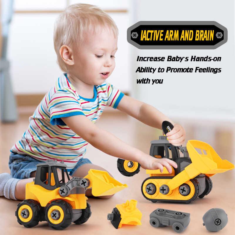 ขนาดใหญ่วิศวกรรมรถจัดแต่งทรงผมของเล่นเด็ก Dump Tracks การศึกษา Diecast ที่ถอดออกได้ Cars ของเล่นเด็ก