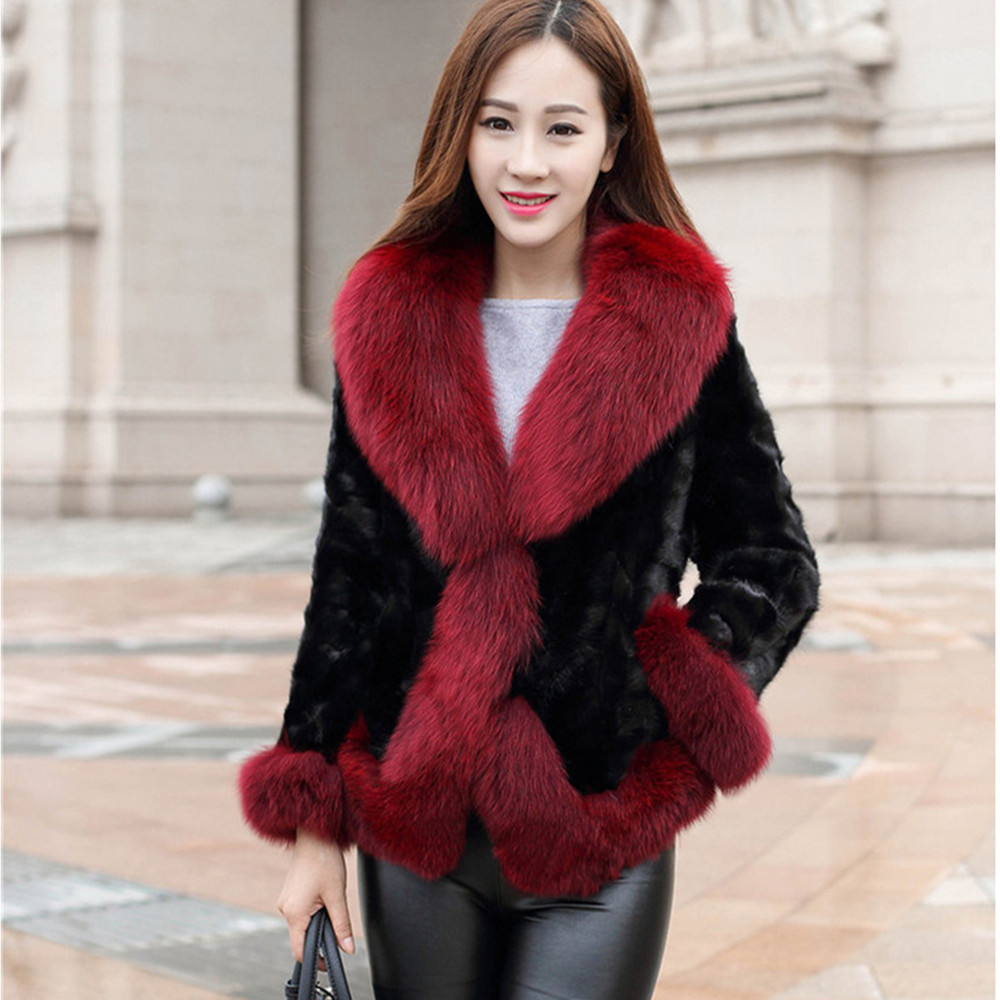 Popular Red Fur Jacket-Buy Cheap Red Fur Jacket lots from China ...
