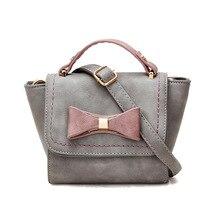 Mode Umhängetasche Weibliche 2016 Frauen Bogen Handtasche frauen Crossbody Messenger Solide Taschen Hochwertigen bolsas feminina