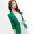 Senhoras Blazers 2016 Nova Moda Único Botão Blazer Mulheres Paletó Verde/Amarelo/Preto Blaser Feminino Plus Size Blazer Femme