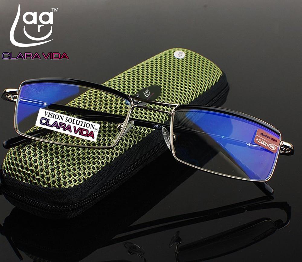 Coated Reading-Glasses Clara Vida Double-Bridge Man Business-Style Commercial Upper Duke
