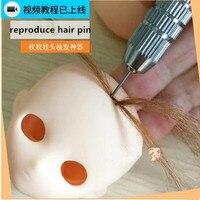4 cái/bộ búp bê tóc giả tool set BJD búp bê blyth các công cụ thay đổi giống tóc pins phụ kiện búp bê ob tái tạo tóc DIY