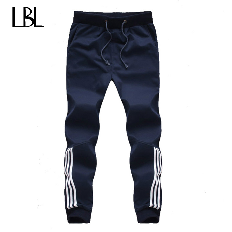 2018 New Fashion Tracksuit Bottoms Mens Casual Pants Cotton Sweatpants Mens Joggers Striped Pants Gyms Clothing Plus Size 5XL