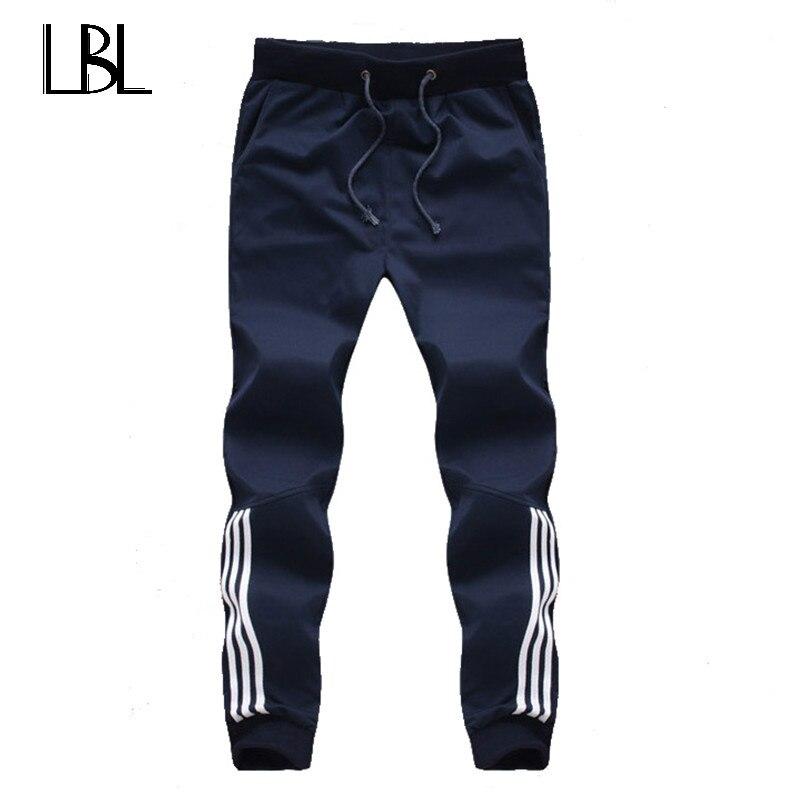 2018 nueva moda Chándal pantalones casuales para hombre de algodón Sweatpants Mens Joggers rayas pantalones Gyms ropa más tamaño 5XL