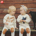 7M-24M Baby Boys Clothing Suits( Long Sleeve Star T-shirt+Pants) Infantil Girls Clothing Sets Cotton Autumn 2016 Bebes Outfits