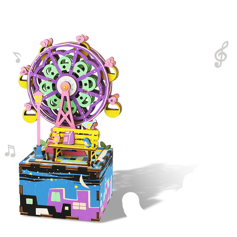 Electronic Toys Kid's Party Children's  enlightenment wooden music box toy birthday  gift Ferris wheel kids toys for children