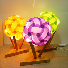 Hot Sale IQ Shade Toys from DIY assembled Puzzle Lights USB Power LED Night Light Ball Decor Design for Room Gift Dropshiping
