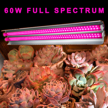 Full Spectrum 60W LED Grow Light Strip Growing Lamp For Plants Indoor Green Tent Fitolampy Phyto Seed Flowers Growth Bulb
