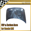 Car-styling For Honda 12-On CRZ Carbon Fiber A-Style Vented Hood Glossy Fibre Engine Bonnet Racing Auto Body Kit Accessories