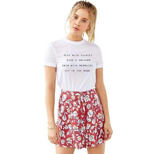 c6800127b1 ¡ Caliente! mujeres de Letras Lindas Impresión de La Manera Tapa de la  Camiseta de Verano de Manga Corta Camiseta Ocasional en Camisetas de La  ropa de las ...