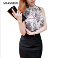 Mlanxeue Fashion Women Summer Neck Strap Style Clothing Sexy Flowers Blouses Spring Women Tops Loose Shirt Casual Cloth Womens