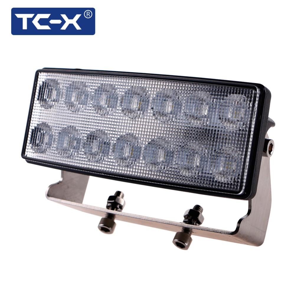 TC-X 5.5 Inch 42W LED Work Light Bar Flood Light Headlight for John Deere Tractor Farmer Loader Truck Trailer Off Road Lighting