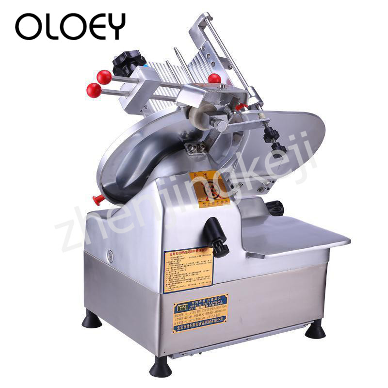Fully Automatic Slicer Meat Roll Machine Meat Planer 12 Inches Aluminum-magnesium Alloy Body Adjustable Thickness Multifunction