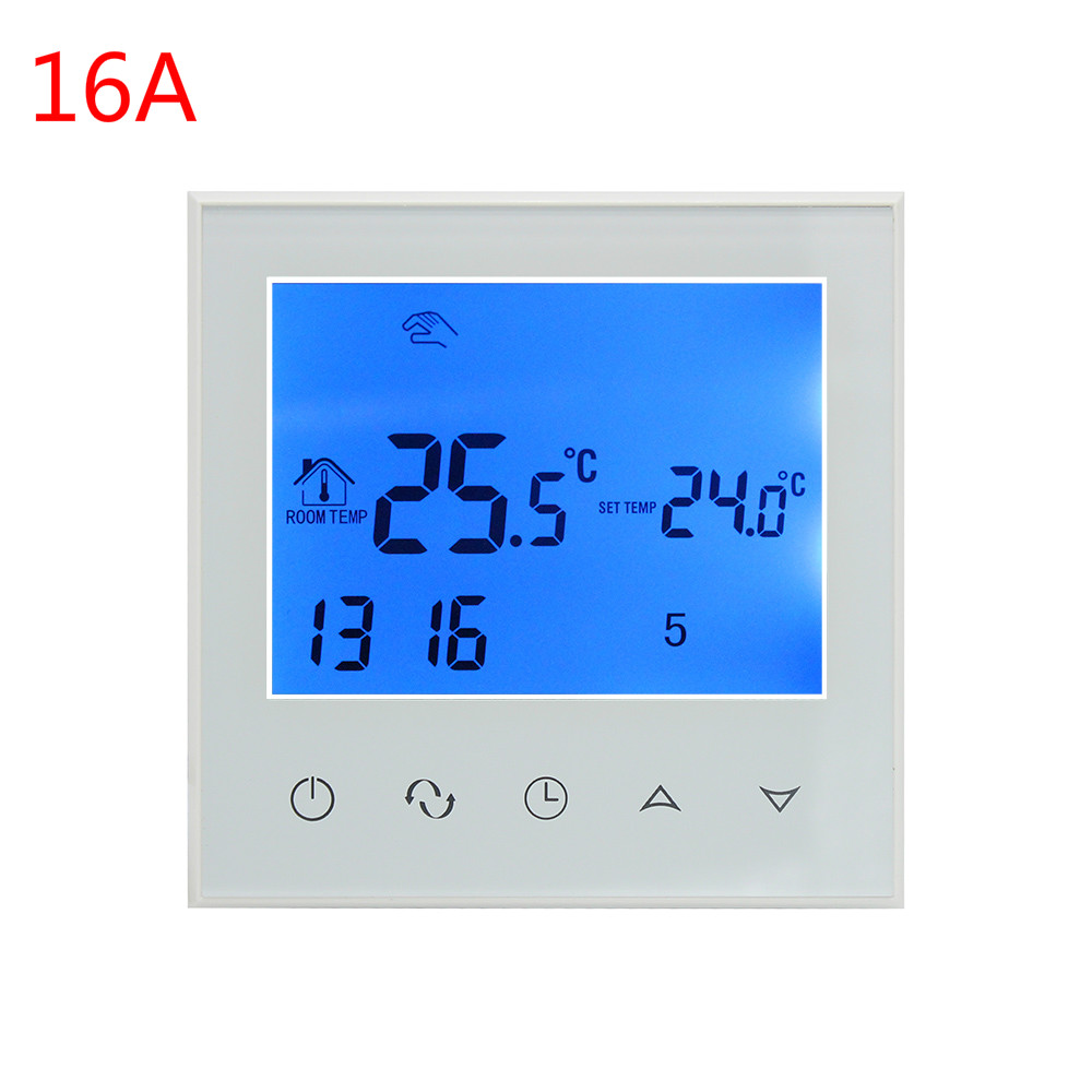 16A Electric Heating  3A  Water heating thermostat  Room Touch Screen ThermostatThermoregulator  Program Temperature Controller16A Electric Heating  3A  Water heating thermostat  Room Touch Screen ThermostatThermoregulator  Program Temperature Controller