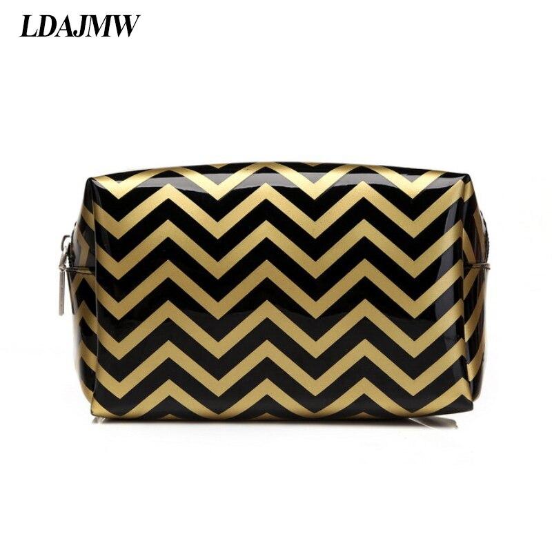 LDAJMW Brand Cosmetic Storage Bags Waterproof Neceser Portable Make Up Bag Women PVC Pouch Travel Toiletry Organizer Makeup Box