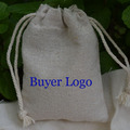 "Personalized Logo Linen  bags 100 piece  9cm x12cm (3 4/8"" x 4 6/8"")  can print  The bride and groom name  logo or store name"