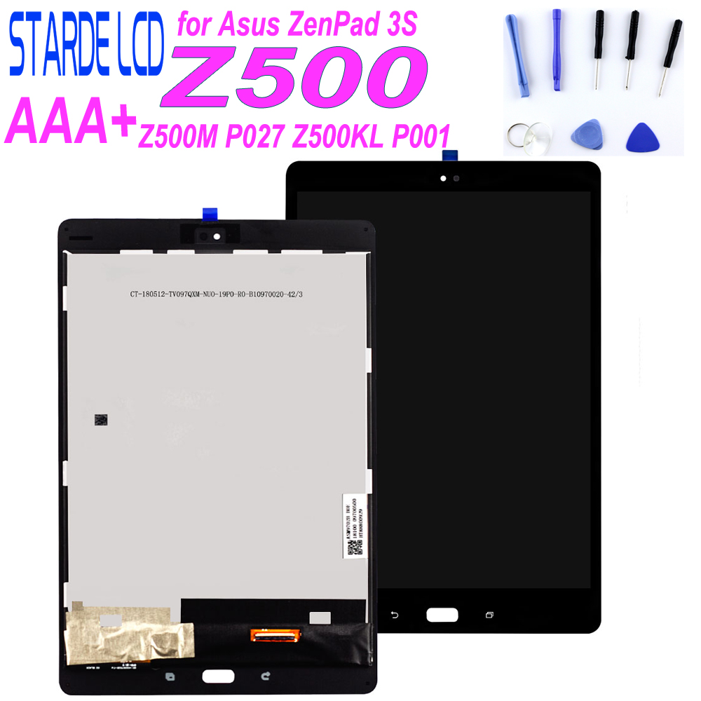 STARDE LCD For Asus ZenPad 3S 10 Z500M P027 Z500KL P001 ZT500KL LCD Display Touch Screen Digitizer Sense Assembly With Frame