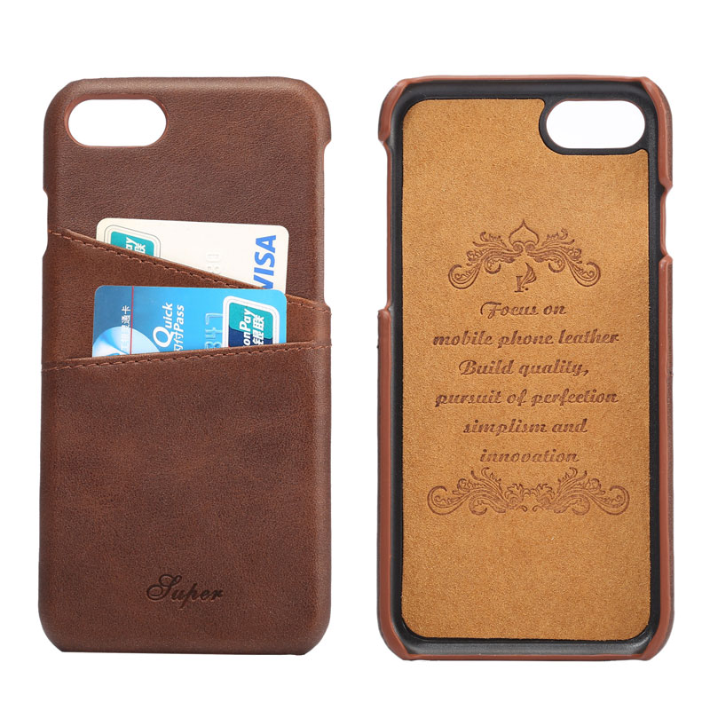 Aliexpresscom buy retro business style luxury leather for Iphone business card holder