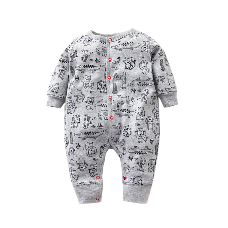 2018 Spring Autumn Newborn Baby   Rompers   100% Cotton Long Sleeve Baby Boy Girl Clothes Cartoon infant Sleepwear baby clothing