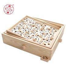 MITOYS 3D головоломка деревянные лабиринтные игрушки доска мяч лабиринт игры игрушки ручной работы детские развивающие Пазлы Размер: 32*28 см