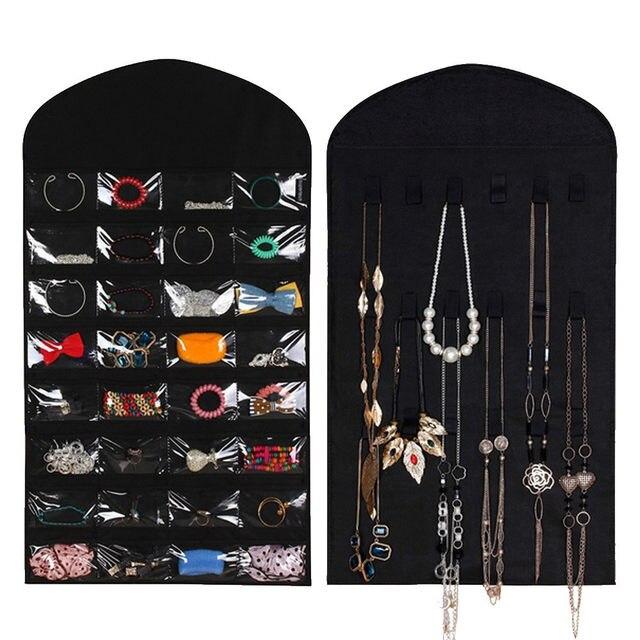 Online Shop 32 Pockets 18 Hook Loops Hanger Hanging Jewelry