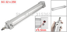 Free Shipping Single Screwed Piston Rod 32 x 250 Dual Action Pneumatic Cylinder SC32 250