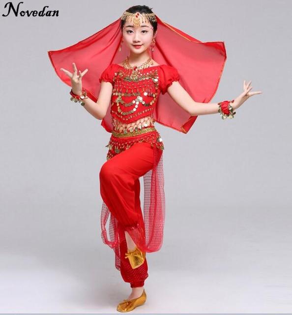 da9d223ed54f4 الأطفال ملابس الفتيات الاطفال بنات بوليوود الهندي رقص الأطفال ملابس الرقص  الشرقي الرقص الشرقي تعيين