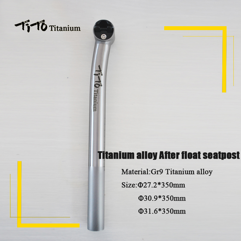 TiTo new arrival titanium alloy after float seatpost  bicycle seatpost road bike MTB bike seatpost length can be customized rockbros titanium ti pedal spindle axle quick release for brompton folding bike bicycle bike parts