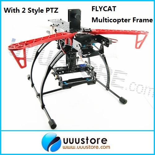 FLYCAT MWC X-Mode Alien Multicopter Frame Kit V2 with Tall Landing Skid+2 Style PTZ Quadc FPV f450 quadcopter frame kit quadrocopter kit f450 pcb arm w black landing gear skid for f450 f550 sk480 fpv multicopter kk mk mwc