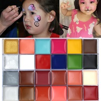 12 Colors Flash Tattoo Body Face Painting Oil Painting Art Halloween Party Fantasy Beauty Makeup Tools