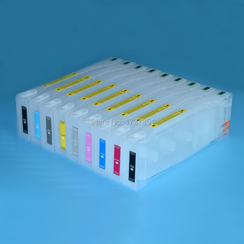 9 color 700ml refill ink cartridge with chip resetter for Epson Stylus Pro 9890 7890 7908 9908 printer vilaxh cartridge chip resetter for epson 9700 9710 9890 9908 9900 9910 7700 7710 7890 7900 7910 px h8000 10000