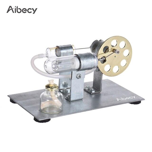Aibecy Mini sıcak hava Stirling Motor Motor modeli akışı güç fizik deney modeli eğitim bilimi oyuncak hediye çocuklar için