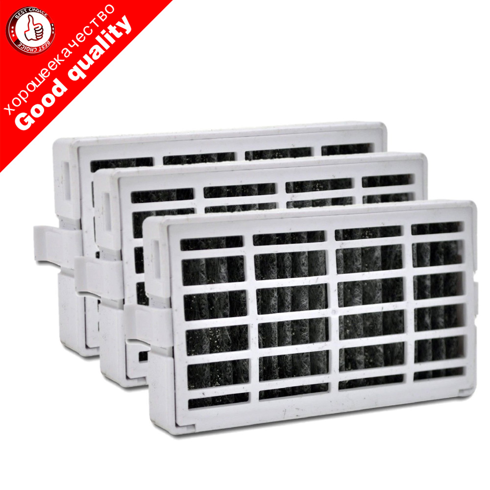 3pcs Refrigerator Accessories Parts Air Hepa Filter For