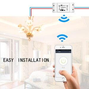 Image 2 - Умный выключатель, универсальный беспроводной выключатель с Wi Fi и дистанционным управлением, работает с Alexa Google Home, 4 шт.