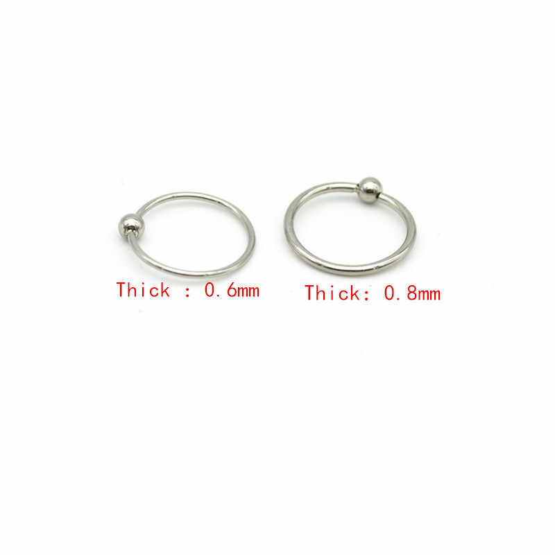 Thin Unisex Hoops 6mm 8mm 10mm Daith Ring Thin Small Silver Cartilage Hoop Sterling Silver 22 Gauge Septum Ring 6mm 8mm 10mm Nose Ring