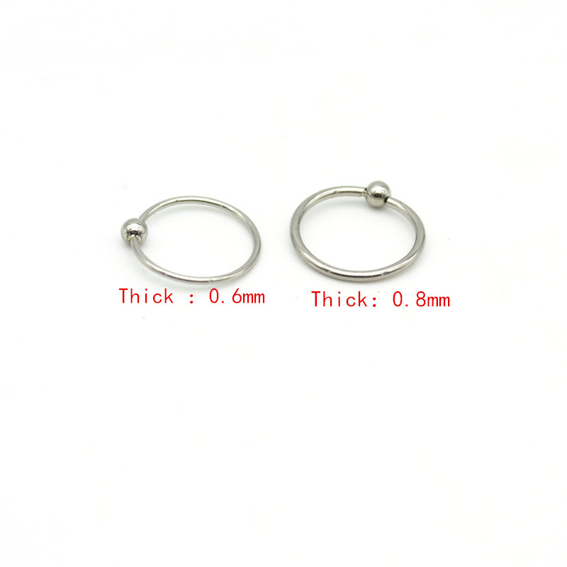 Jewelry Sets & More Body Jewelry Surgical Steel Hoop Nose Ring Ball Closure Lip Ear Nose Eyebrow Universal Piercing Cartilage Earring Tragus 0.6mm Thin 0.8mm Refreshing And Enriching The Saliva