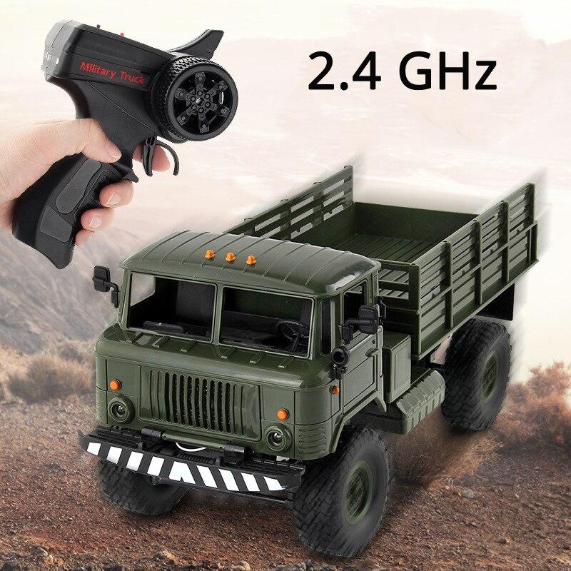 WPL 1/16 Camion 2.4G 6WD RC voiture Camion militaire véhicule tout terrain