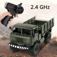WPL 1/16 Camion 2.4G 6WD RC Car Military Truck Cross Country Vehicle