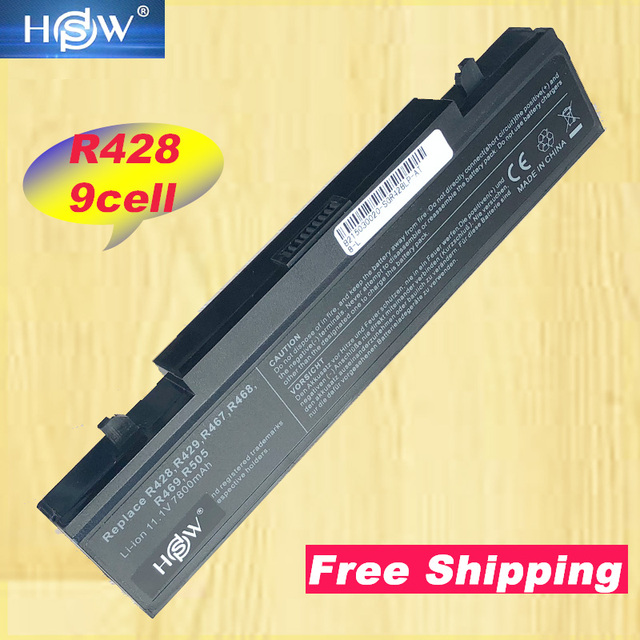 HSW 7800 mAh batteria per Samsung R530 R540 R519 Q430 Q528 R428 NP R519 NP R522 AA PB9NC5B AA PB9NC6B AA PB9NS6B AA PL9NC2B