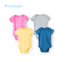 Himipopo Active Baby Bodysuits Short Infant Jumpsuits for Summer Toddler Clothing Sets Cotton Newborn Boys Girl Clothes for 3-9M