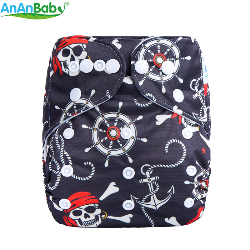 Ananbaby Environmental Friendly Nappies Washable Adjustable Cloth Diaper Suit For Boys