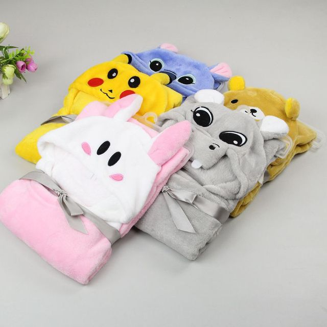 2016 new Spring/Autumn  Coral cashmere baby blankets coated newborn wind cloth bag can be used as towels sleeping baby cloak